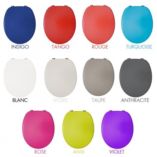 abattant wc couleur