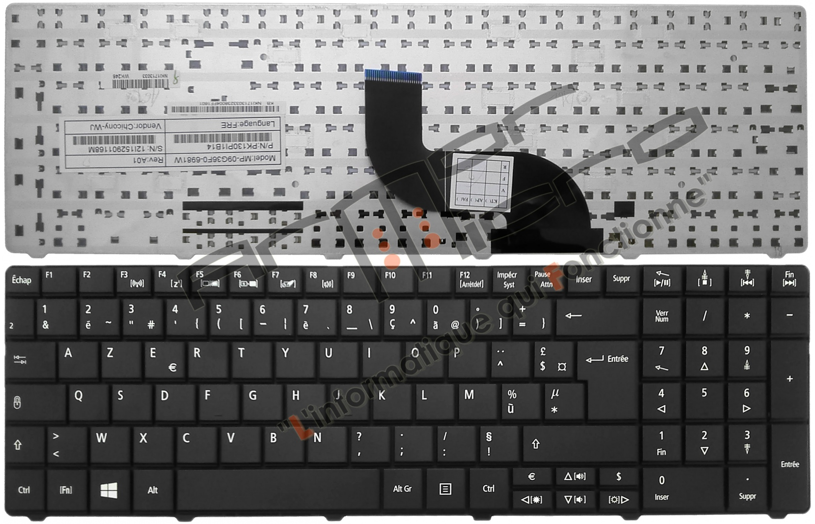 acer aspire clavier