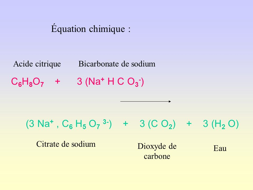 acide citrique bicarbonate de soude