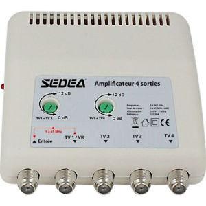 amplificateur d'antenne pour tv tnt 4 sorties