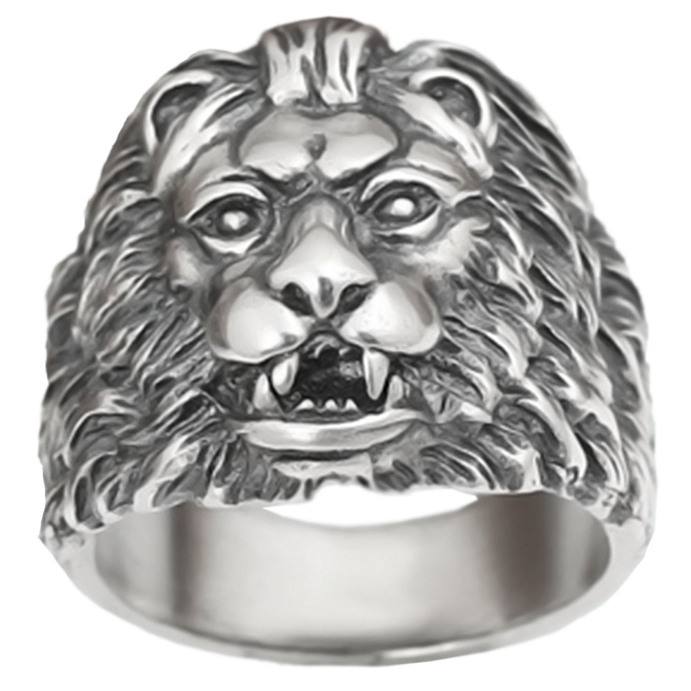 bague homme lion