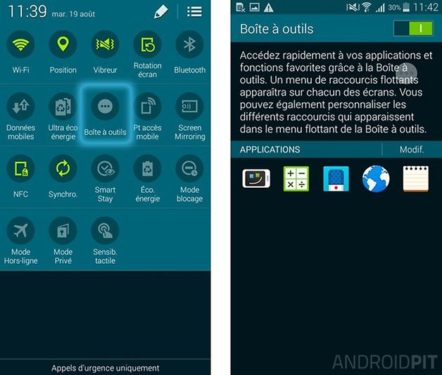 barre d outils samsung
