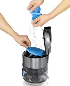 aspirateur sans sac avec filtre lavable