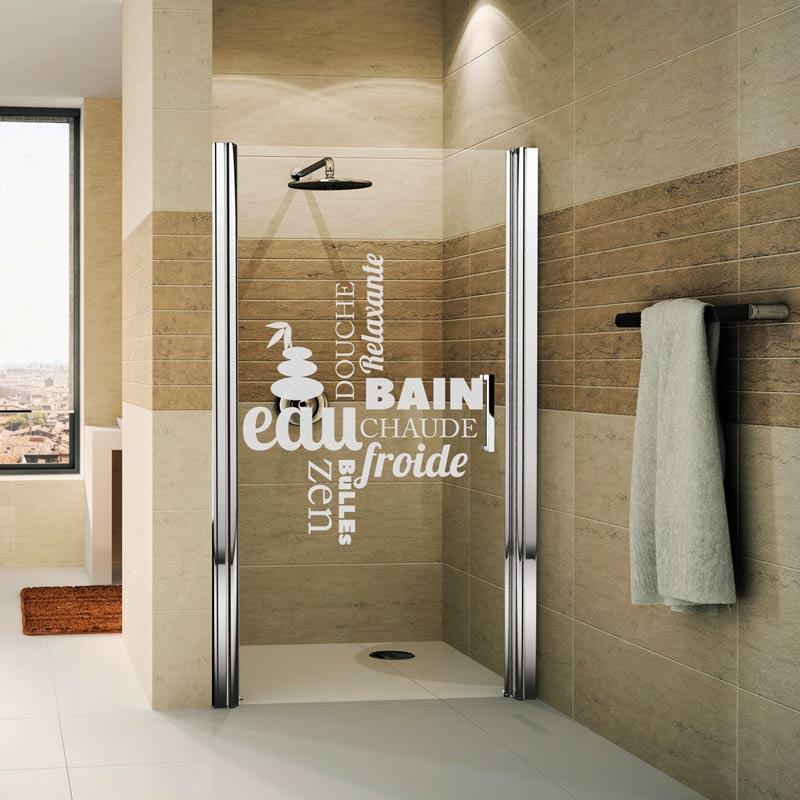 autocollant pour douche
