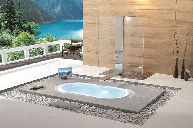 baignoire encastrable au sol
