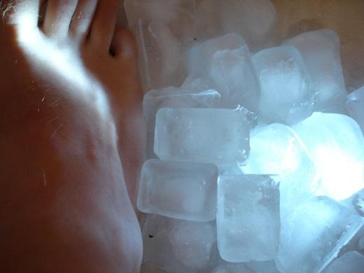 bain de pied glacé