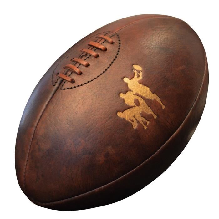 ballon rugby cuir vintage