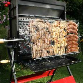 barbecue fonte cuisson verticale