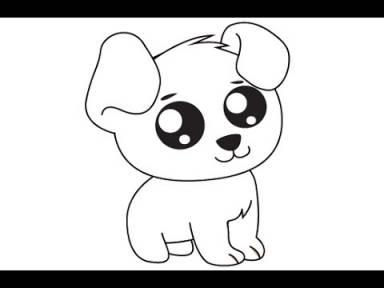 dessin de chien facile et mignon