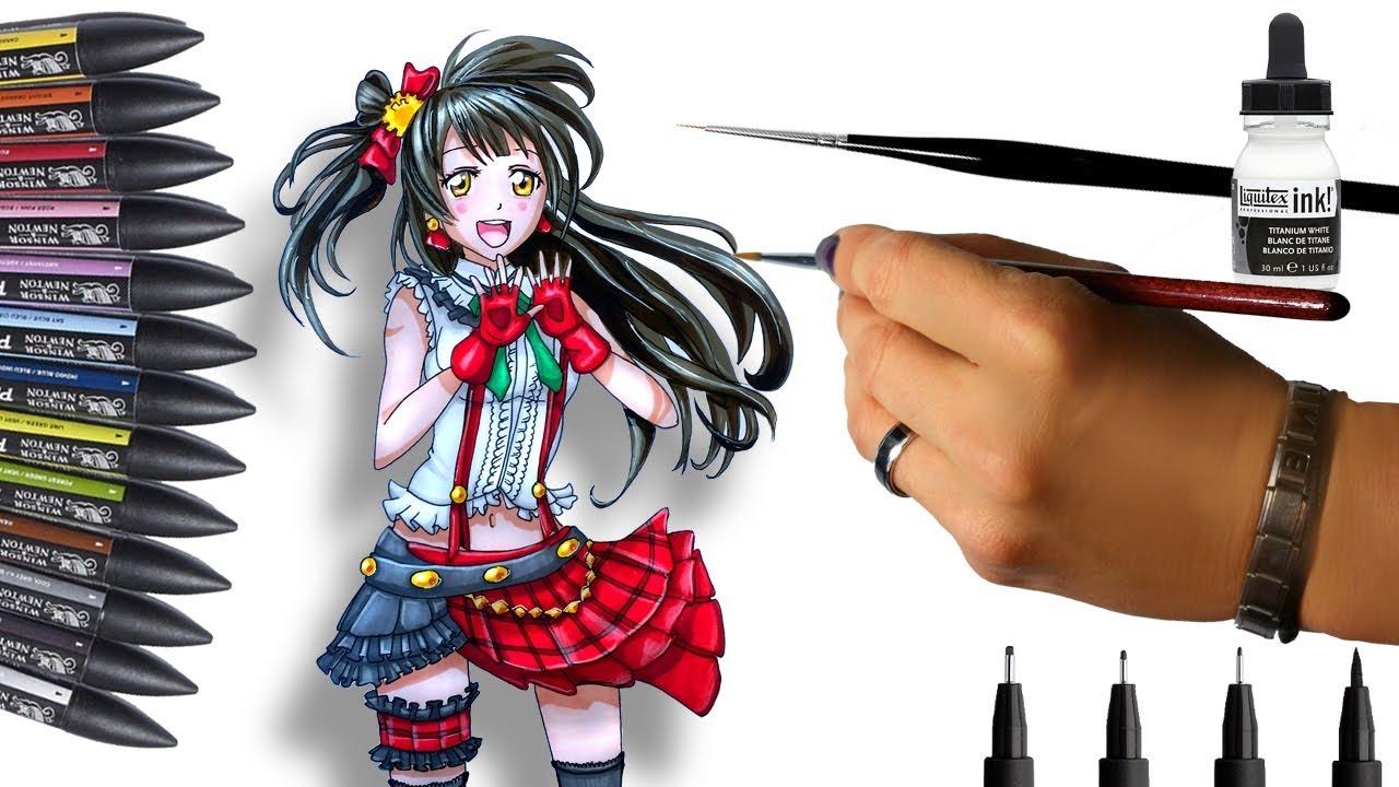 dessin manga promarker