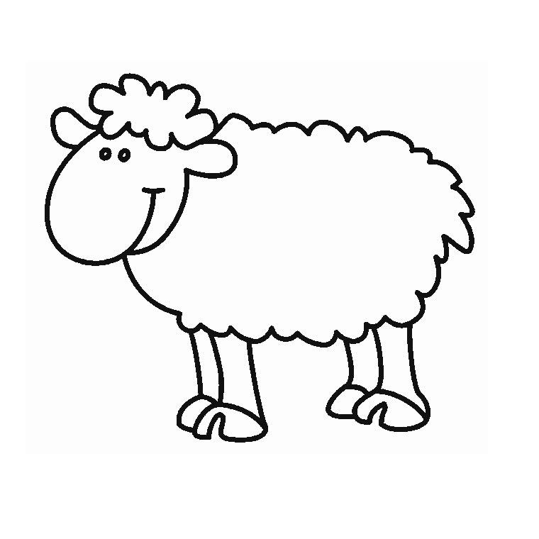 dessin mouton à imprimer