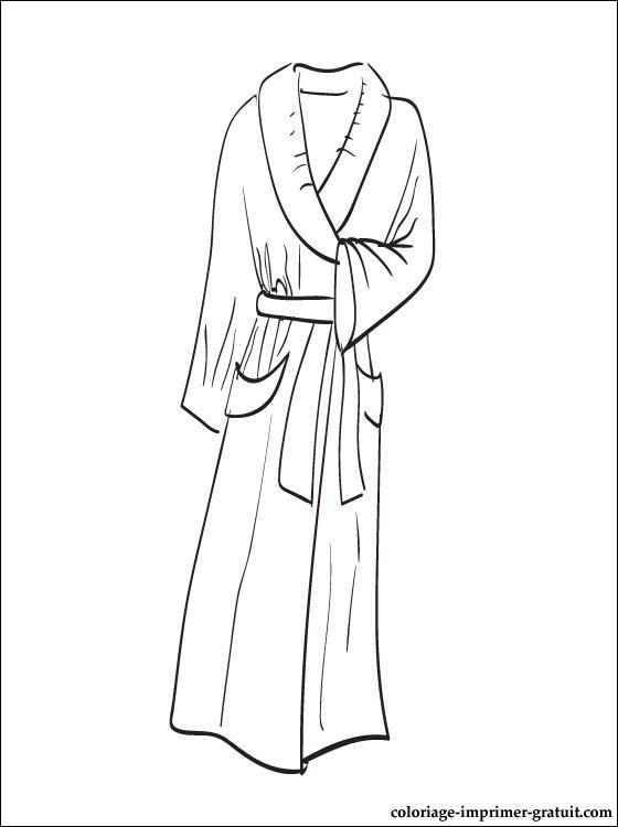 dessin robe de chambre