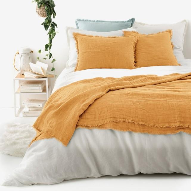 dessus de lit lin