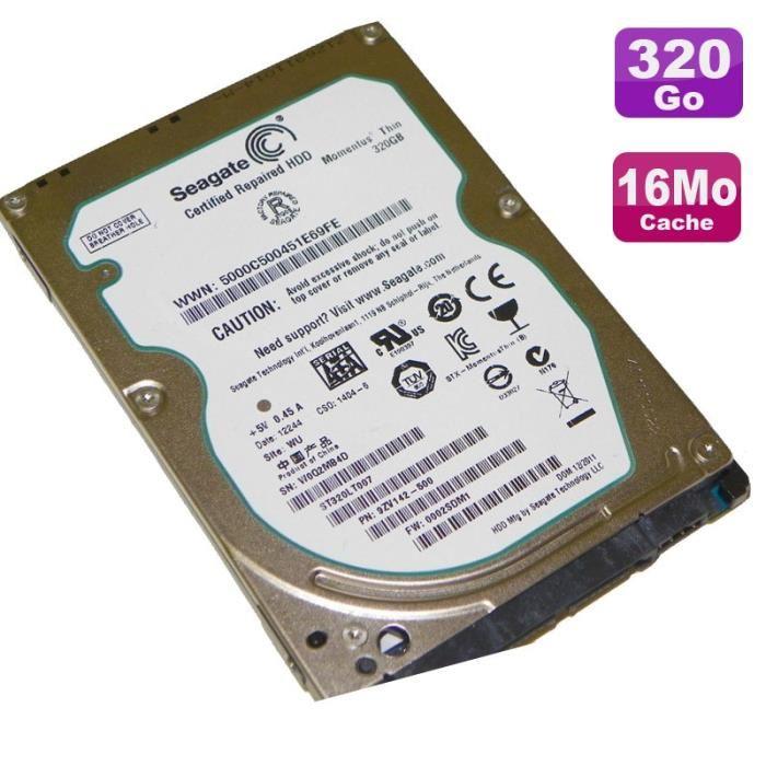 disque dur 2.5 320 go