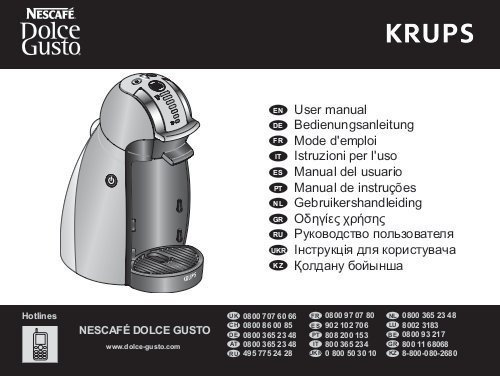 dolce gusto krups mode d emploi