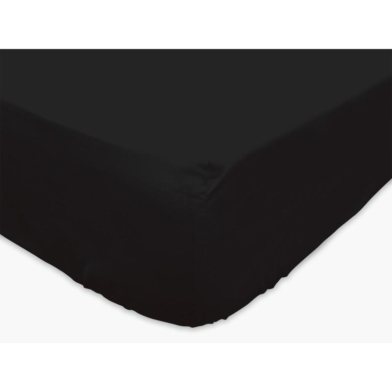 drap housse noir 140x190