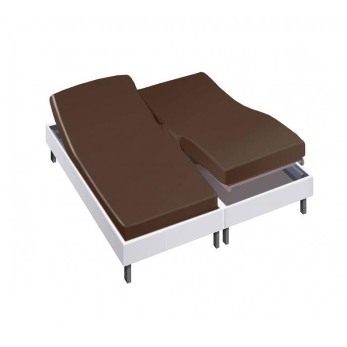 drap housse pour lit articulé 2x80x200