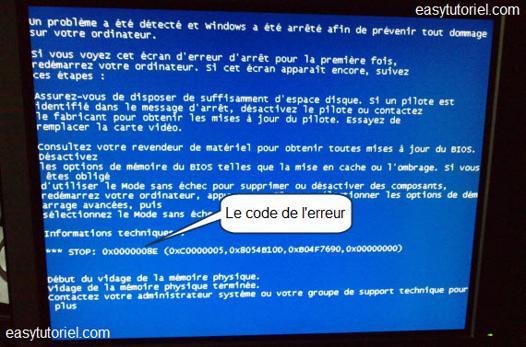 ecran bleu windows 7 64 bits