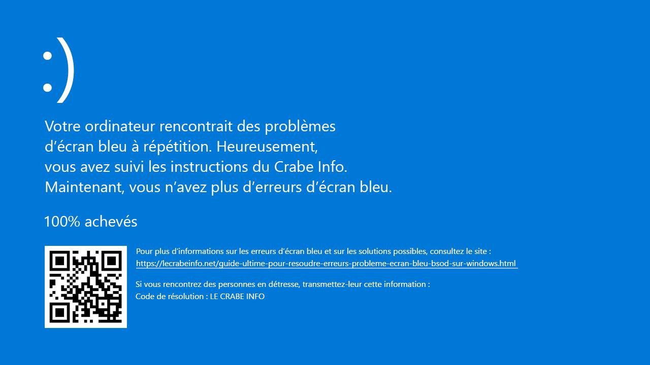 ecran bleue windows 7