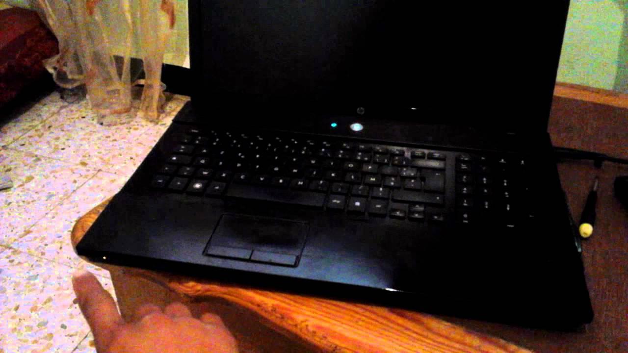 ecran noir pc portable hp